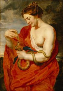 Hygeia, goddess of mental health and holistic care.