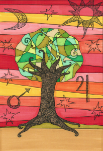 Tree astrology art